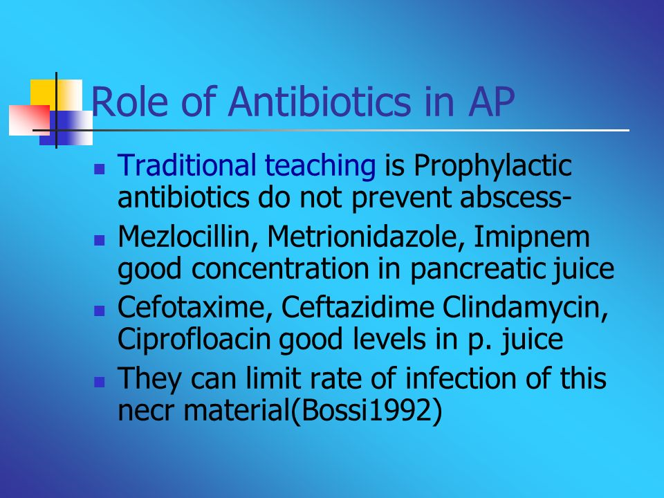 Role of Antibiotics in AP
