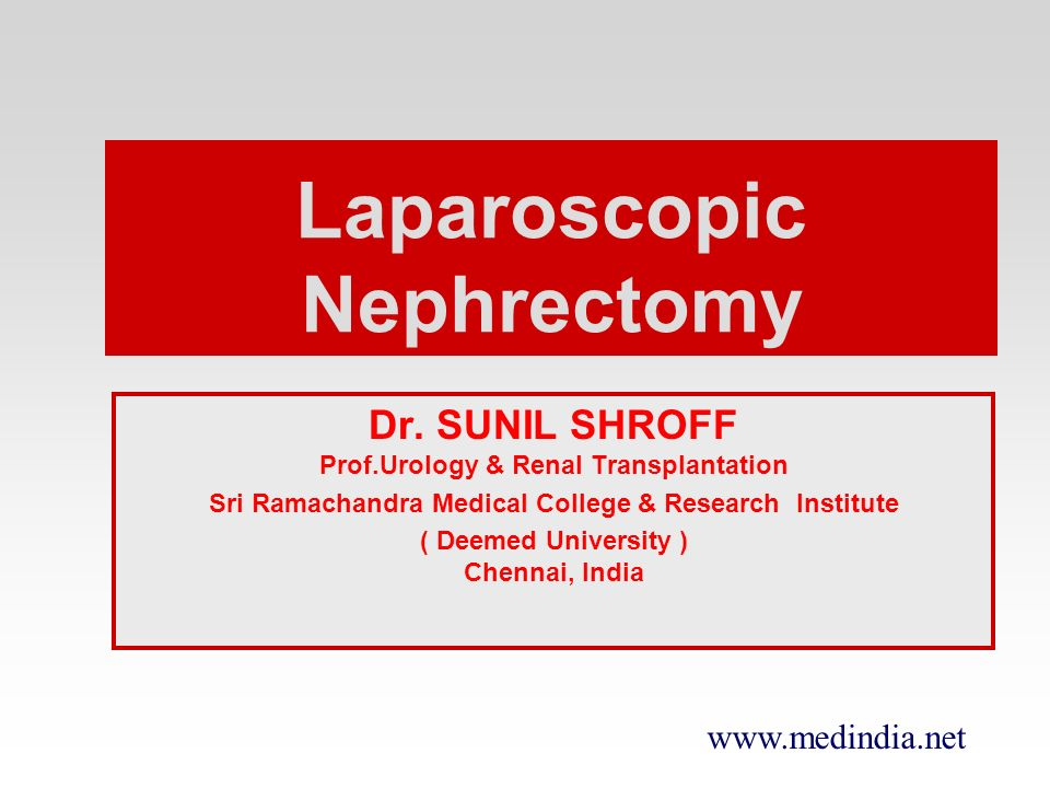 Laparoscopic Nephrectomy