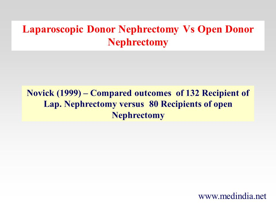 Laparoscopic Donor Nephrectomy Vs Open Donor Nephrectomy