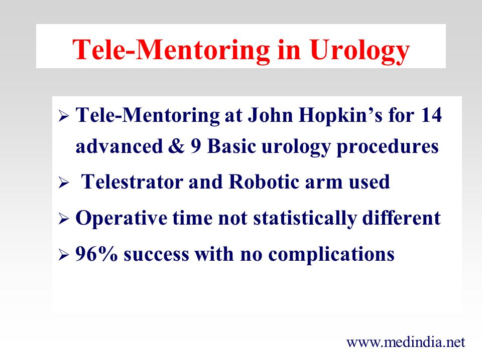 Tele-Mentoring in Urology