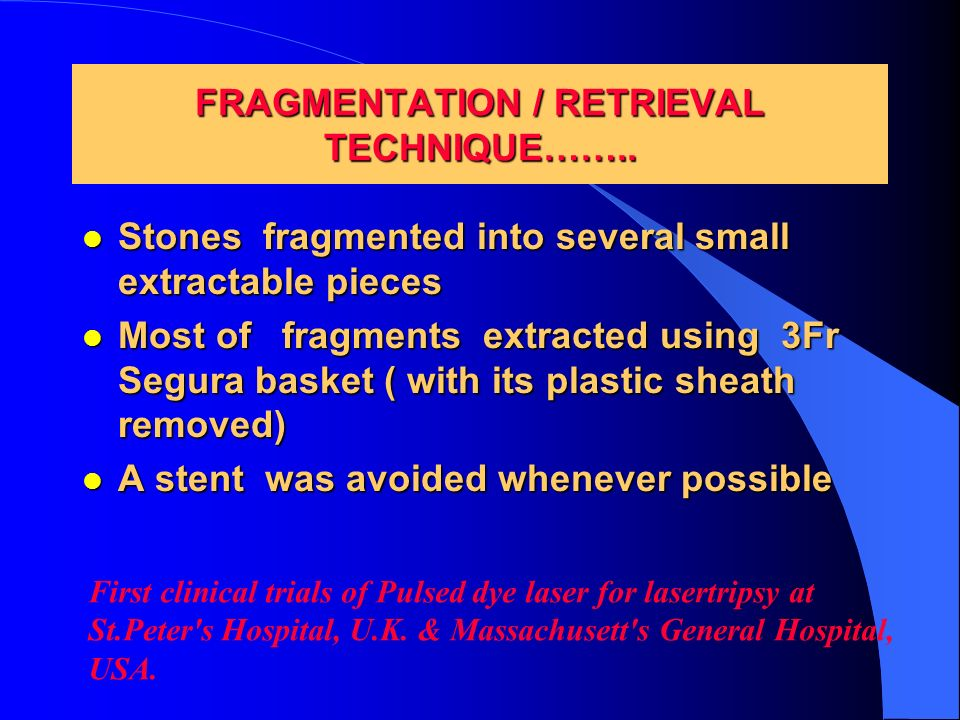 FRAGMENTATION / RETRIEVAL TECHNIQUE……..