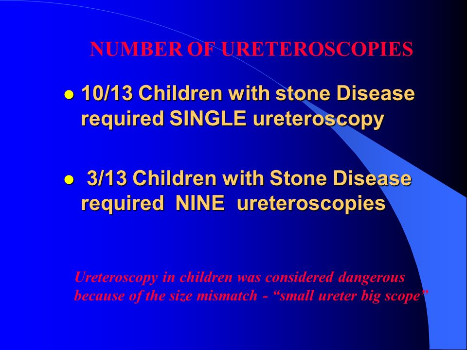 NUMBER OF URETEROSCOPIES