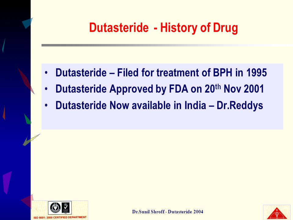 Dutasteride - History of Drug