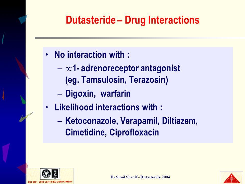 Dutasteride – Drug Interactions