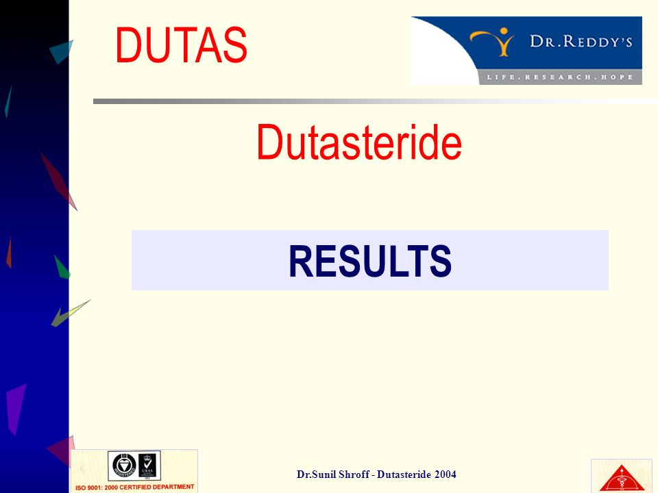 Dr.Sunil Shroff - Dutasteride 2004