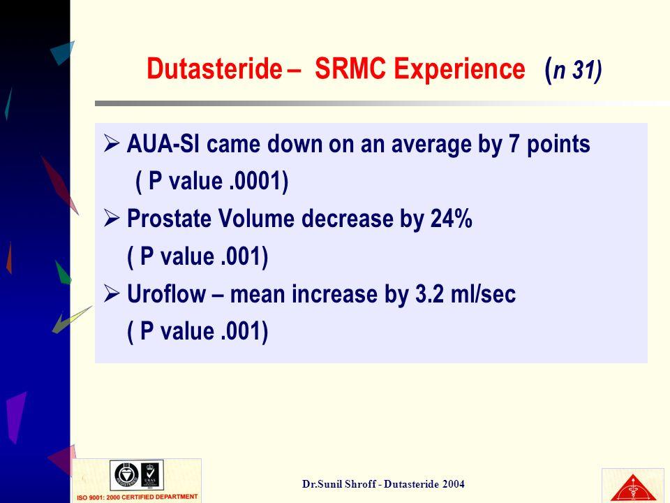 Dutasteride – SRMC Experience (n 31)