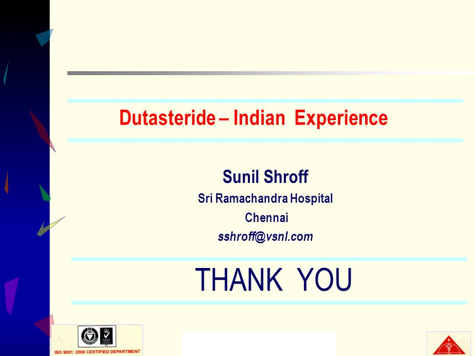 Dutasteride – Indian Experience