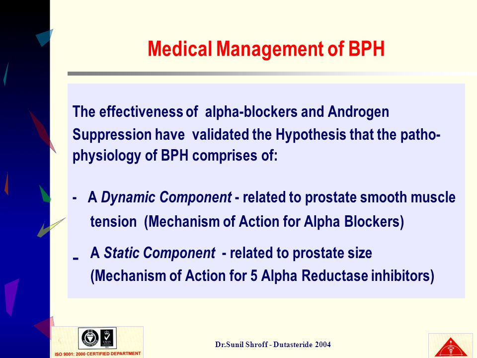 Medical Management of BPH