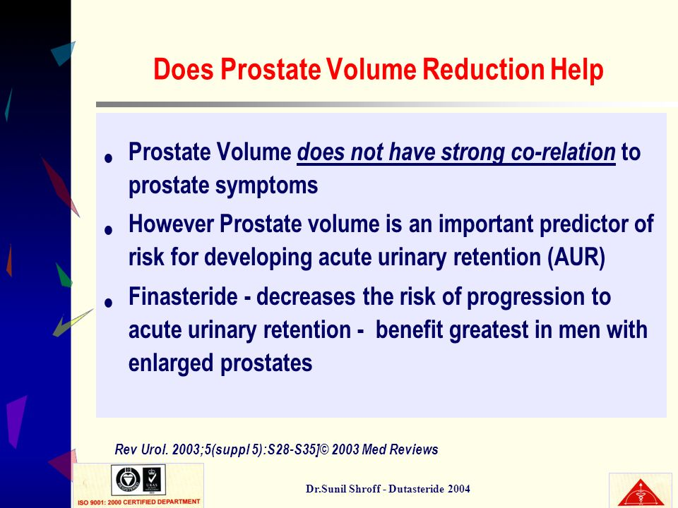 Does Prostate Volume Reduction Help