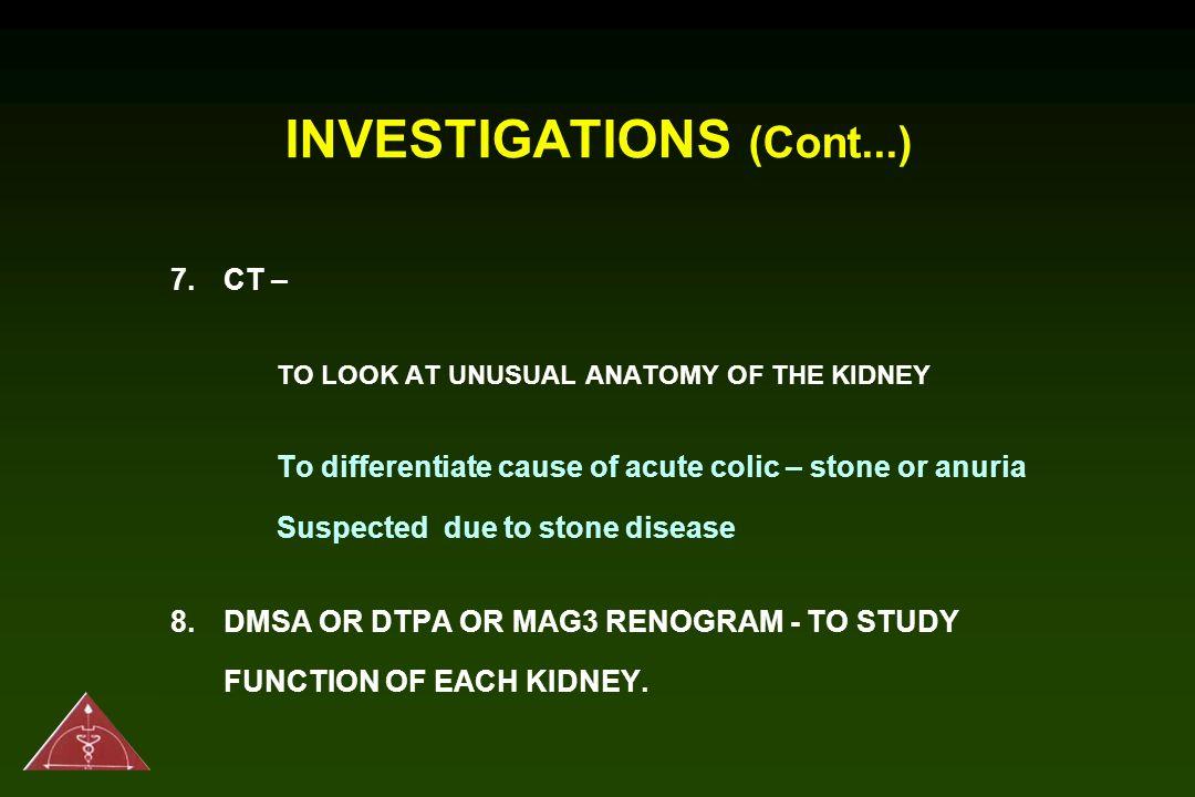 INVESTIGATIONS (Cont...)
