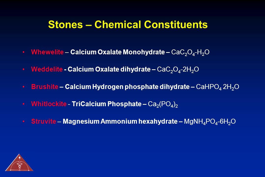 Stones – Chemical Constituents