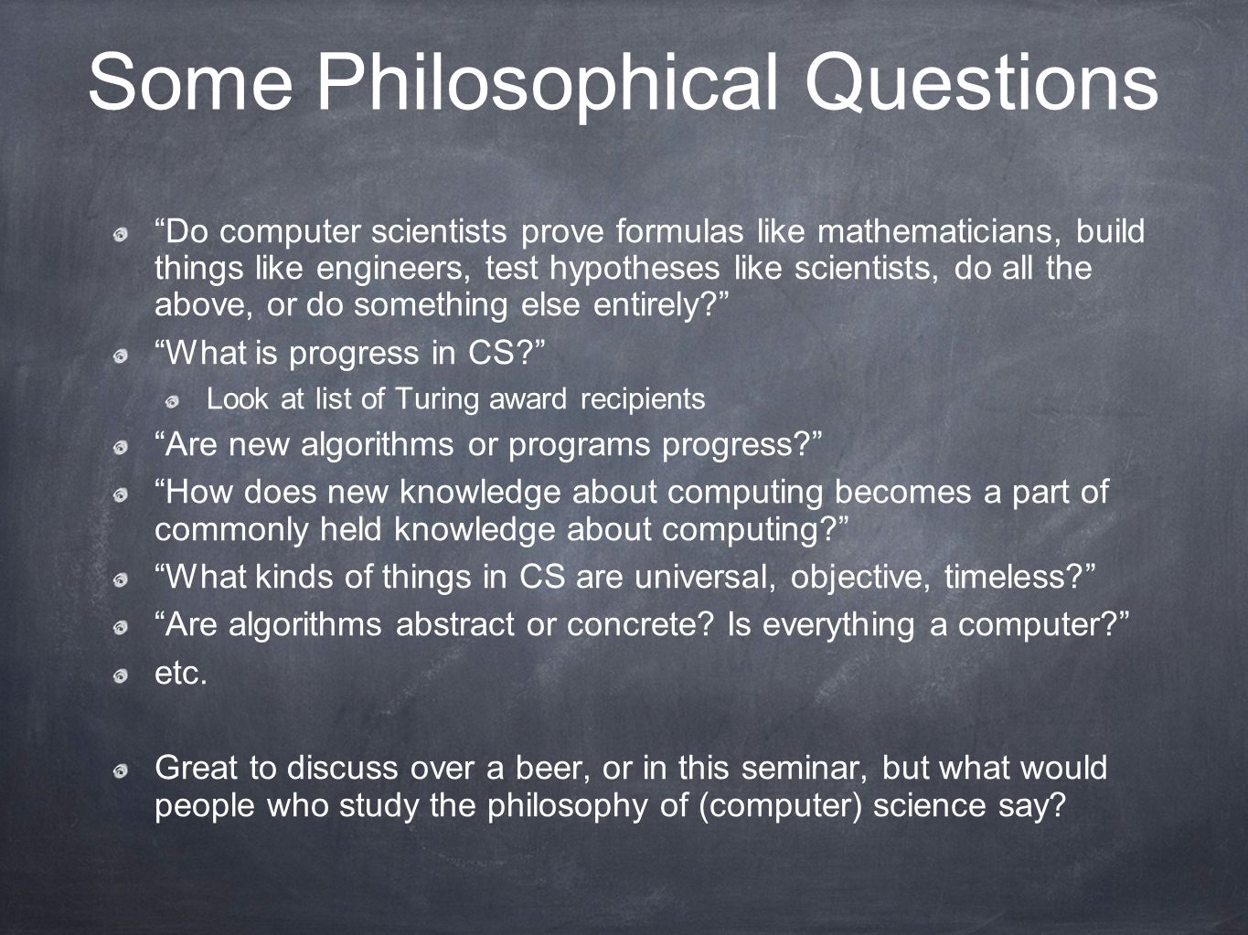 philosophical questions One way to understand the uniqueness of philosophy might be through looking at  the way facts differ from questions these differ not only in form but in the.