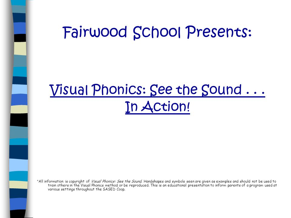 Fairwood School Presents: