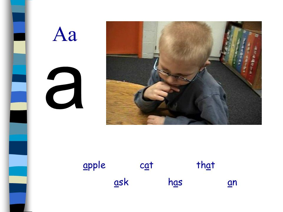 Aa a apple cat that ask has an