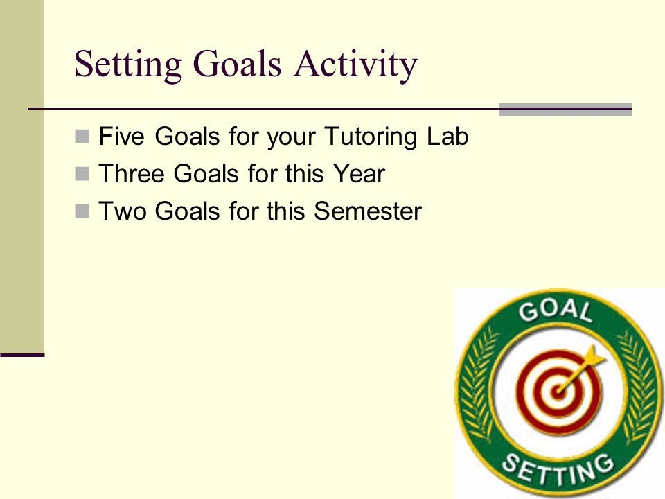 Setting Goals Activity