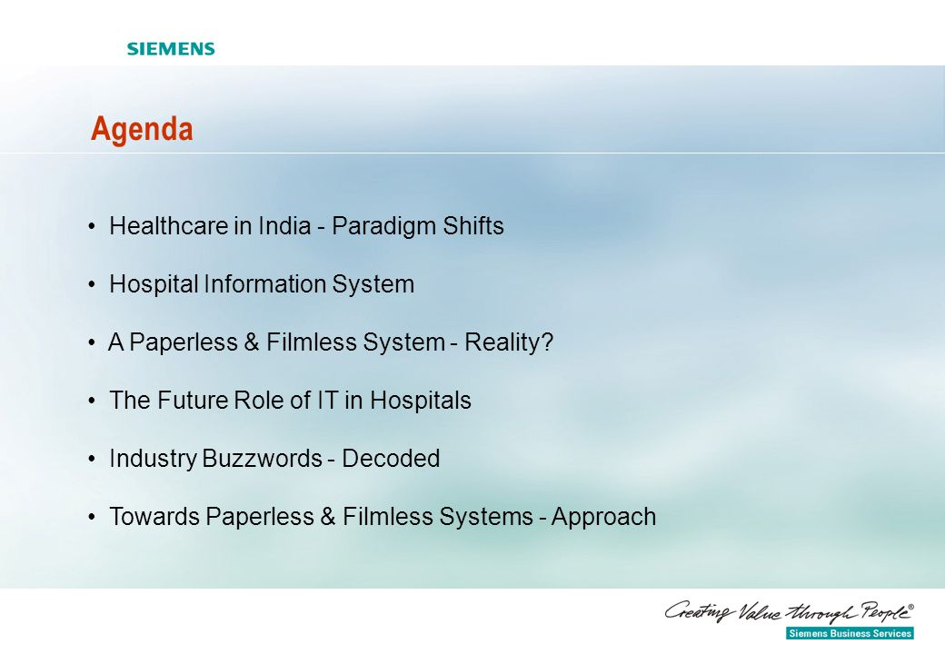 Agenda Healthcare in India - Paradigm Shifts