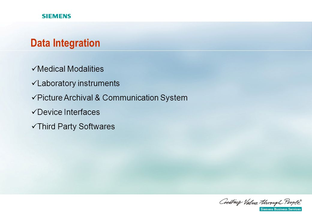 Data Integration Medical Modalities Laboratory instruments