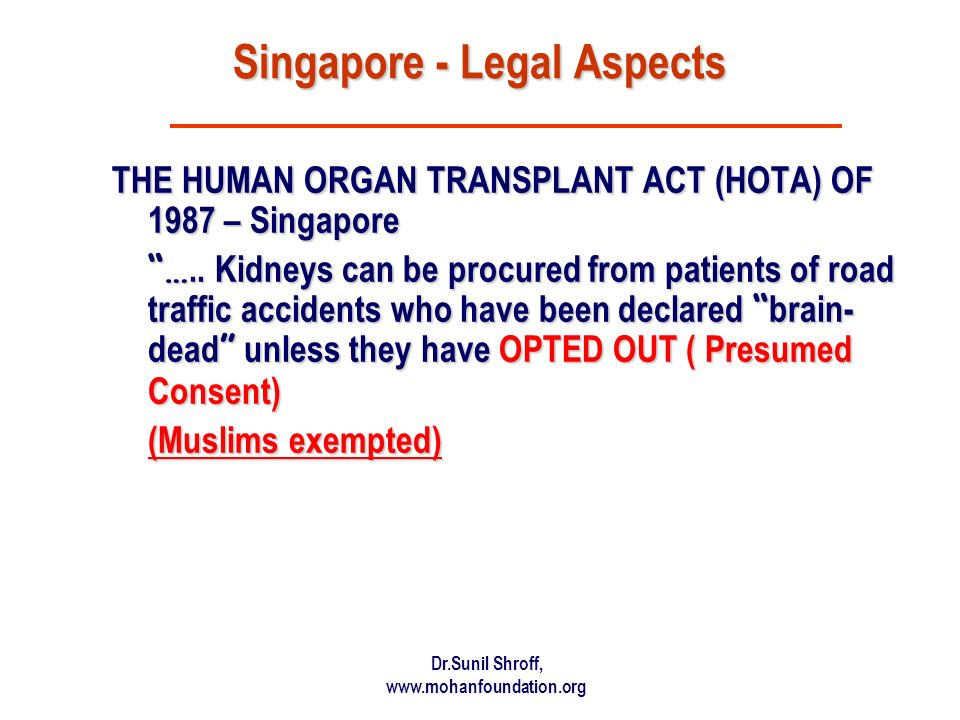 Singapore - Legal Aspects