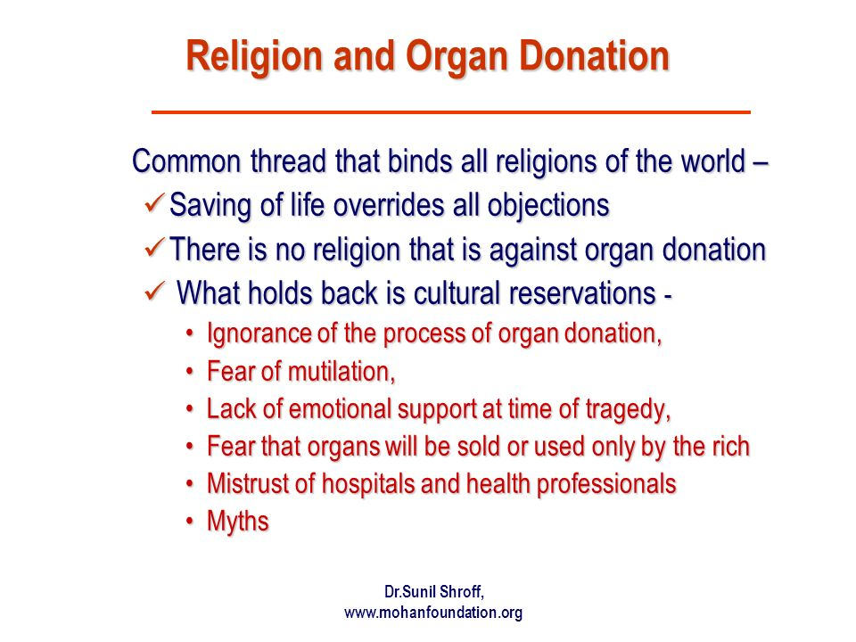 Religion and Organ Donation