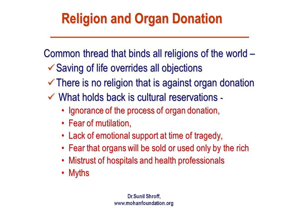 Religion and Organ Donation