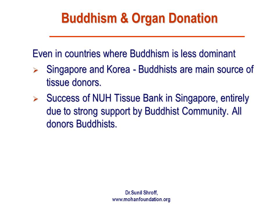 Buddhism & Organ Donation