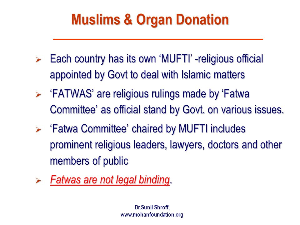 Muslims & Organ Donation