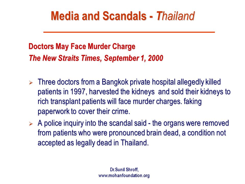 Media and Scandals - Thailand