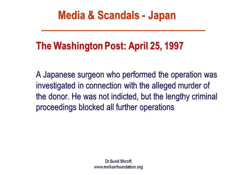 Media & Scandals - Japan