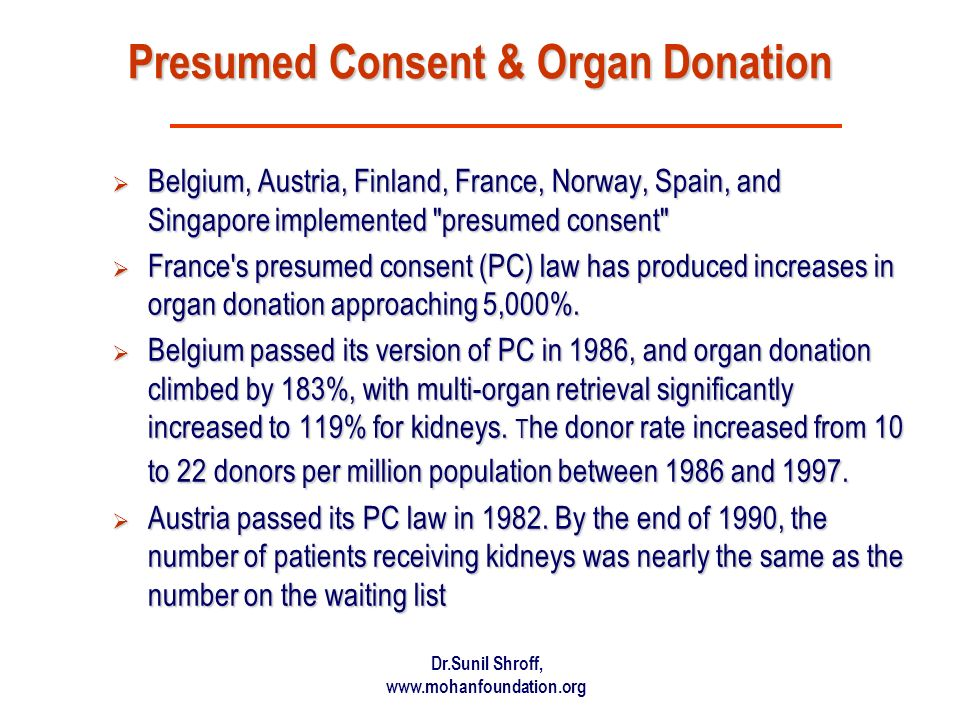 Presumed Consent & Organ Donation