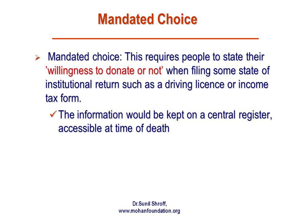 Mandated Choice