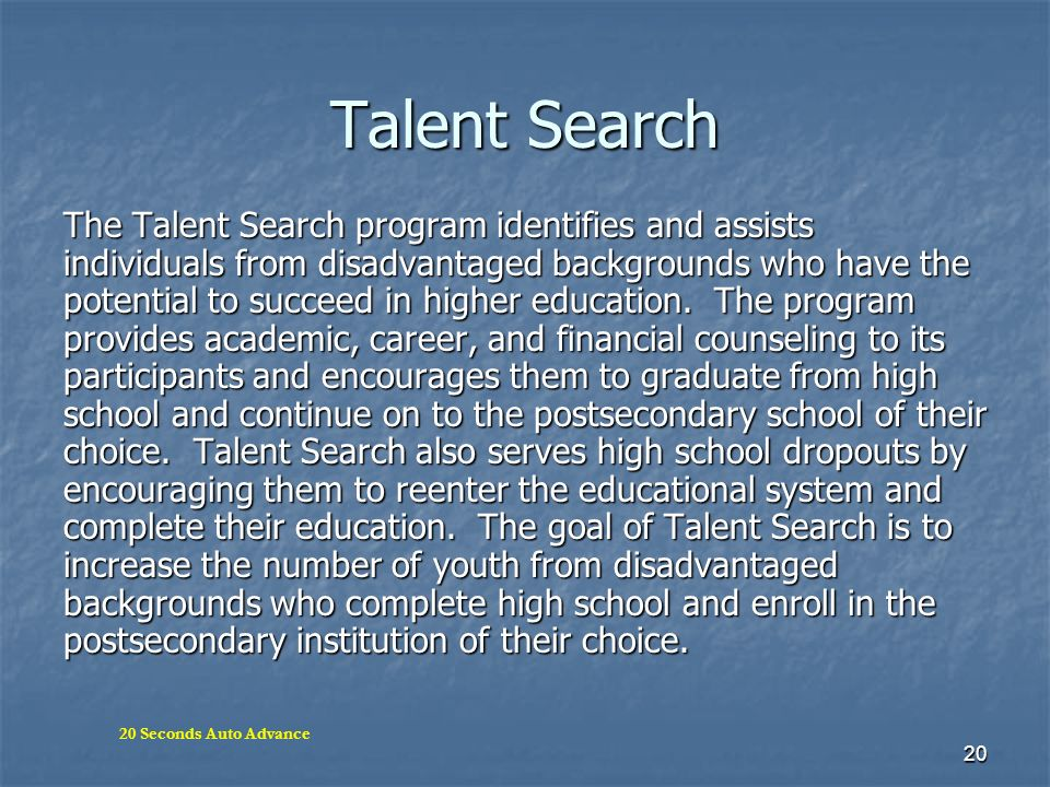 Talent Search