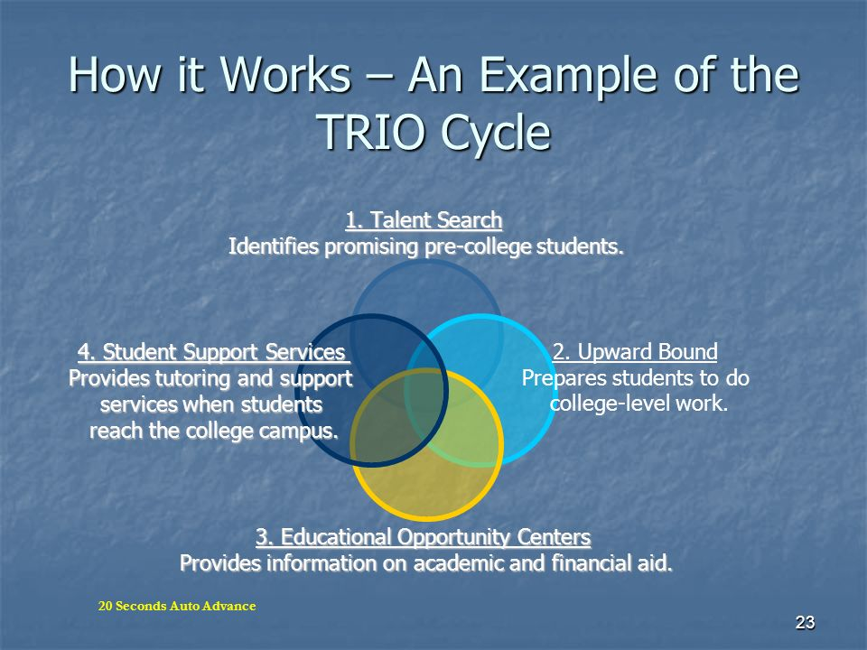 How it Works – An Example of the TRIO Cycle