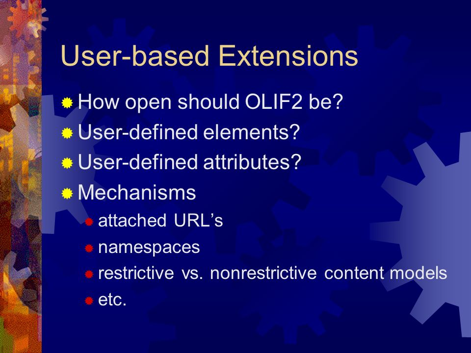 User-based Extensions