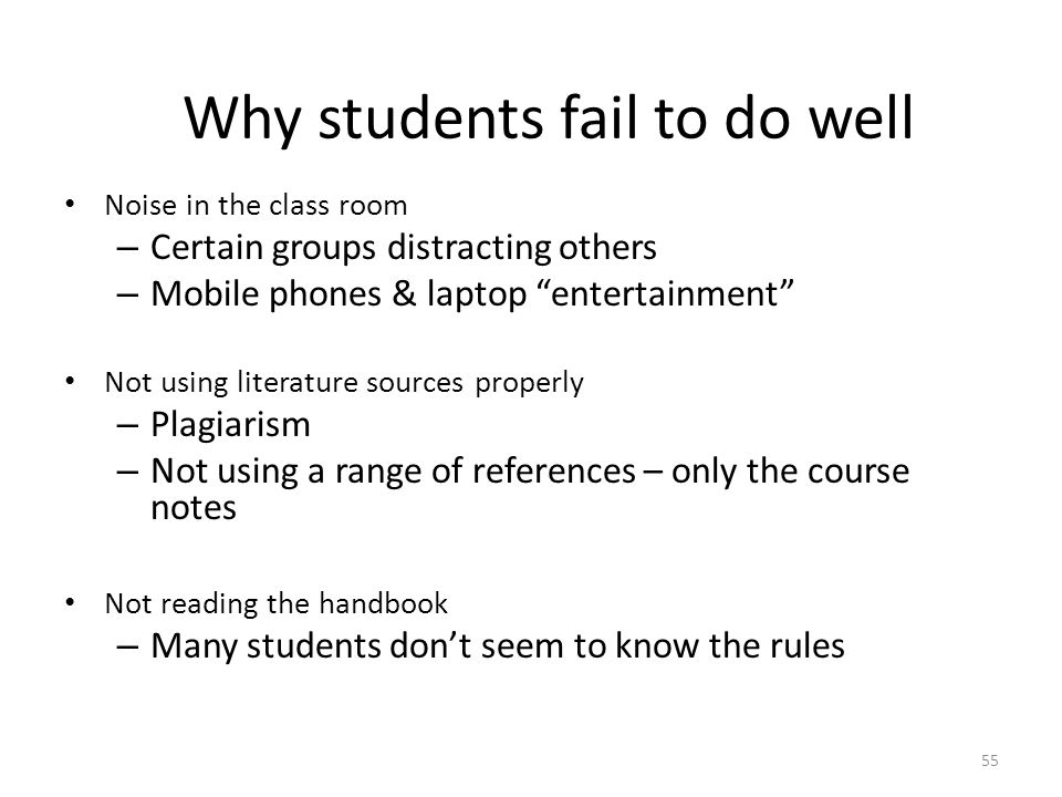 essay on why students fail Maria hurtado mrs frederking english 51 9 3 2014 why capable students fail there are so many questions people have towards why the dropout rate is so.