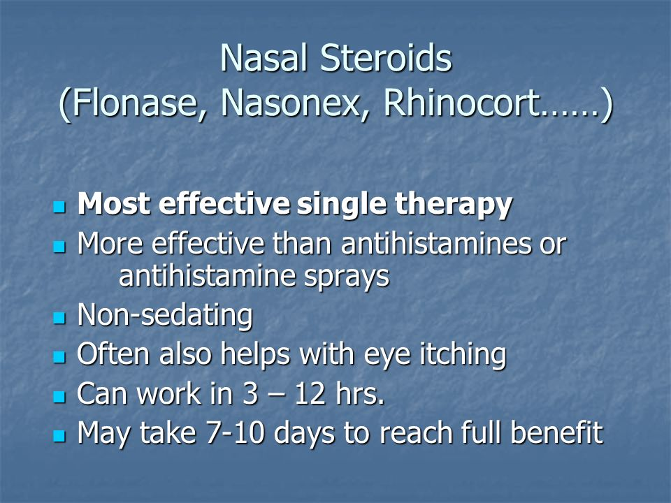 nasal spray steroids side effects