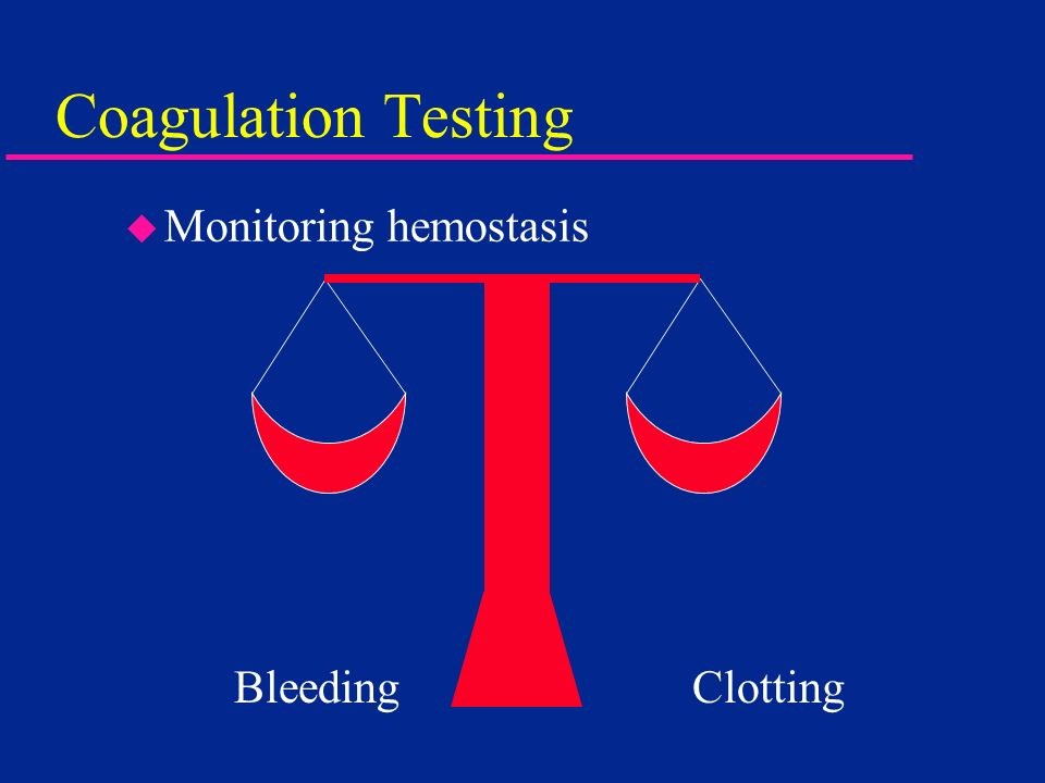 Coagulation Testing Monitoring hemostasis Bleeding Clotting