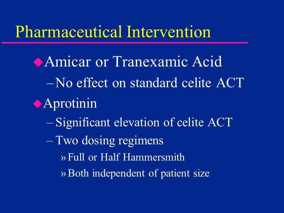 Pharmaceutical Intervention