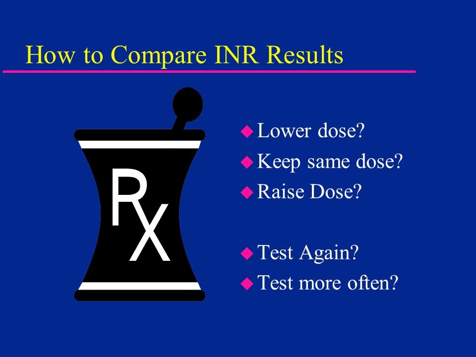 How to Compare INR Results