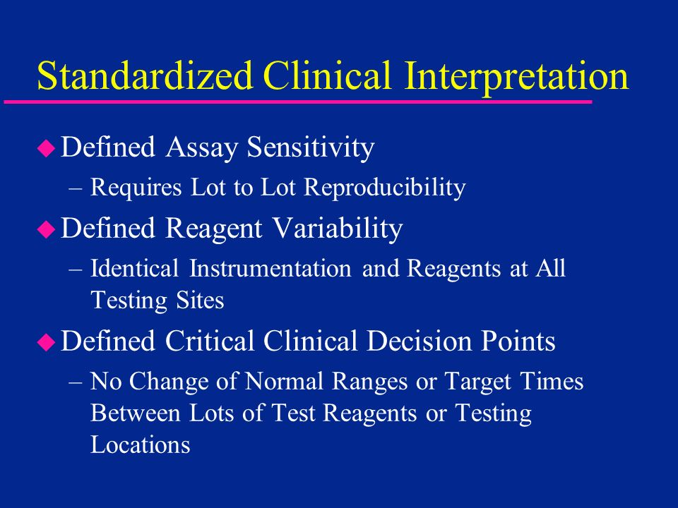 Standardized Clinical Interpretation