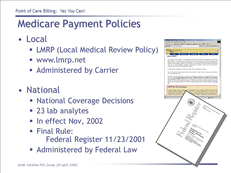 Medicare Payment Policies