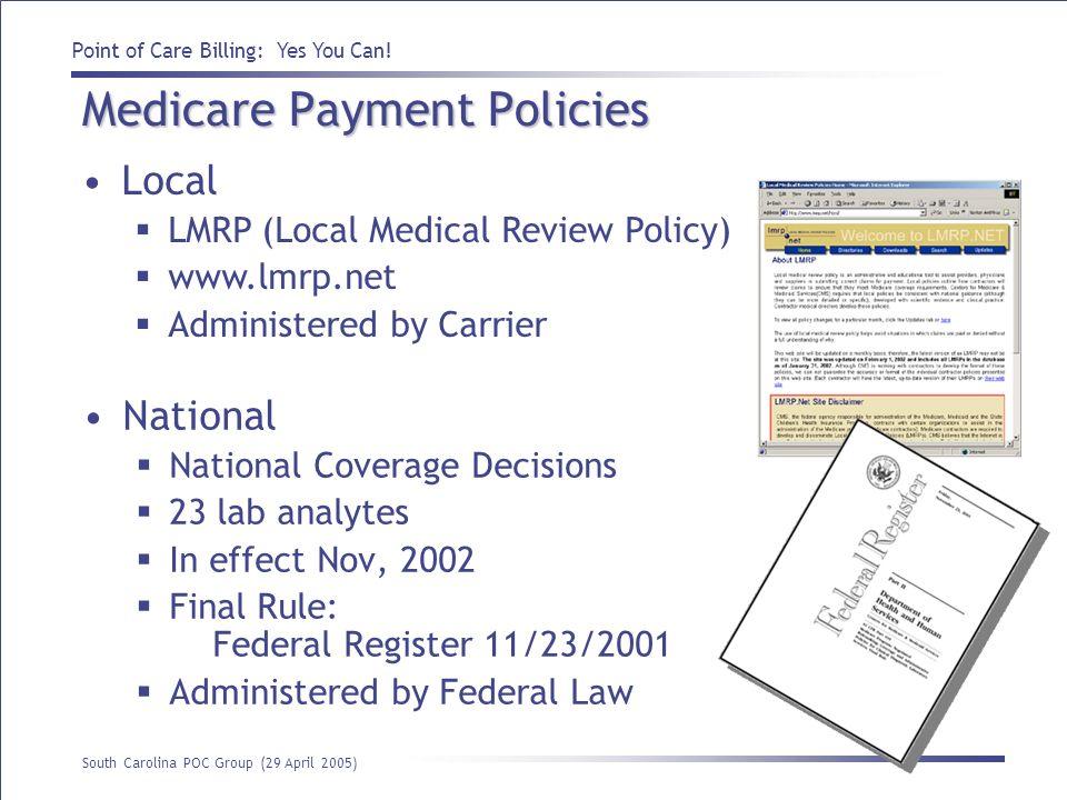 Medicare Payment Policies
