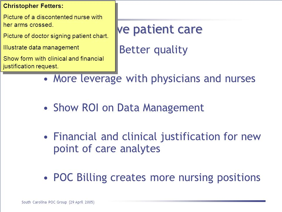 Billing can improve patient care
