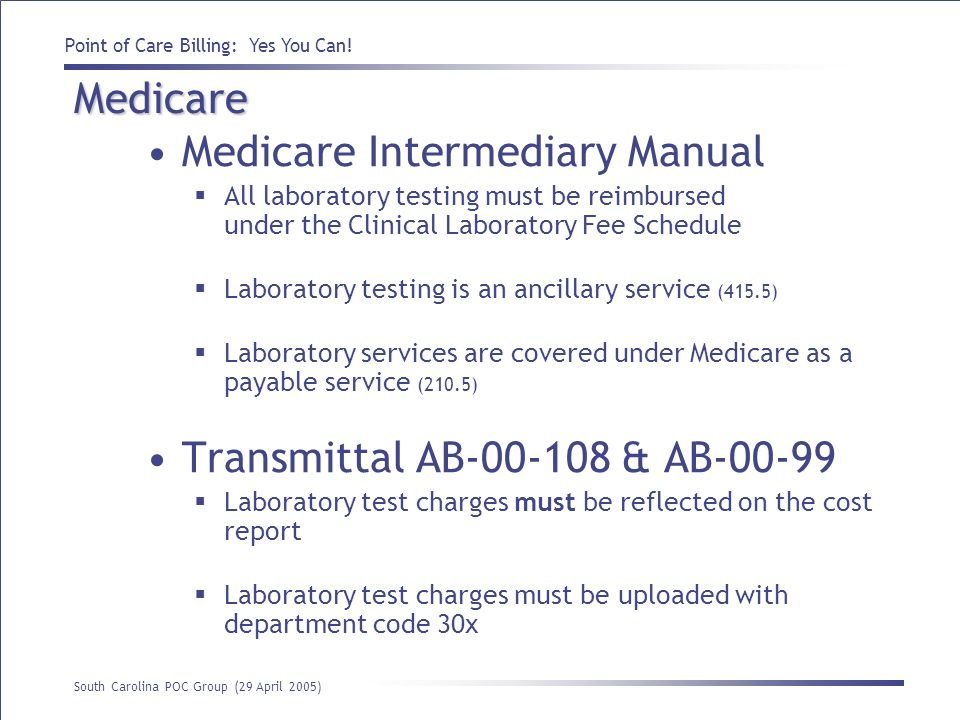 Medicare Intermediary Manual