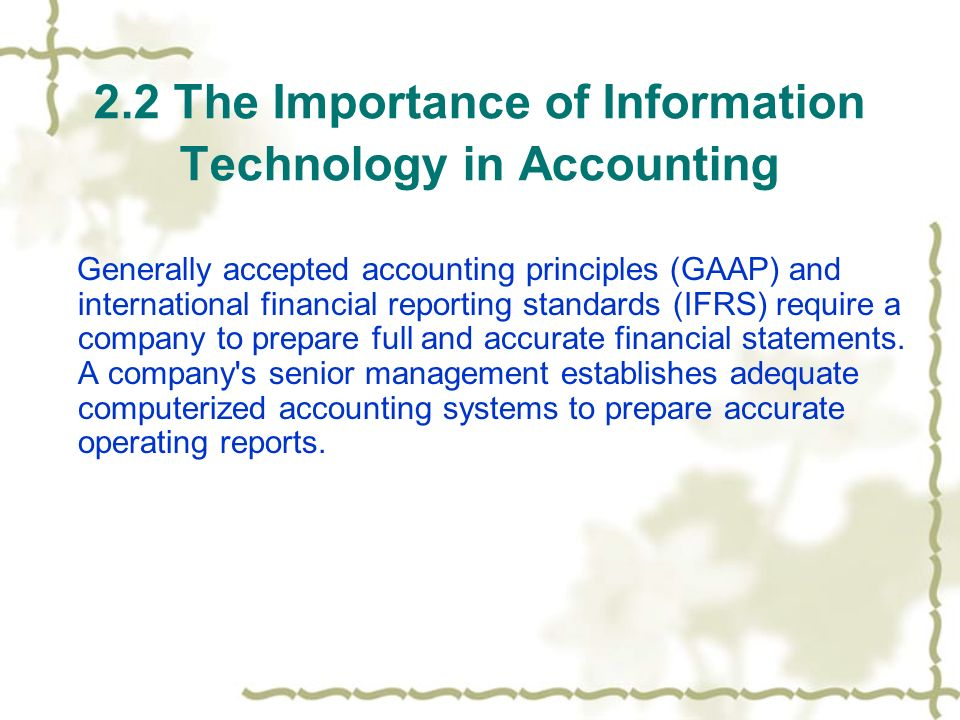 "the role of accounting information in Chapter 12 the role of accounting in business financially speaking accounting is often called ""the language of business"" because it provides much of the information that owners, managers, and investors need to evaluate a company's financial performance."