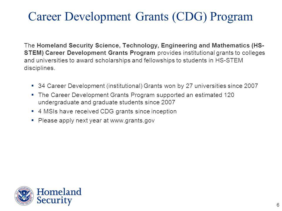 Career Development Grants (CDG) Program