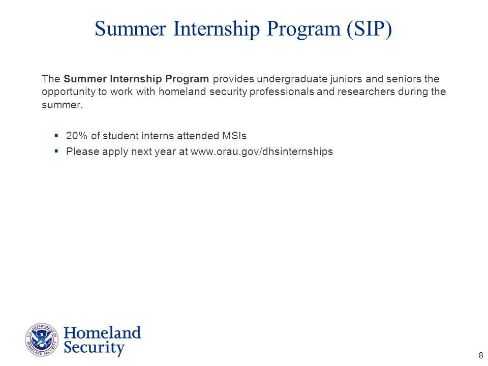 Summer Internship Program (SIP)