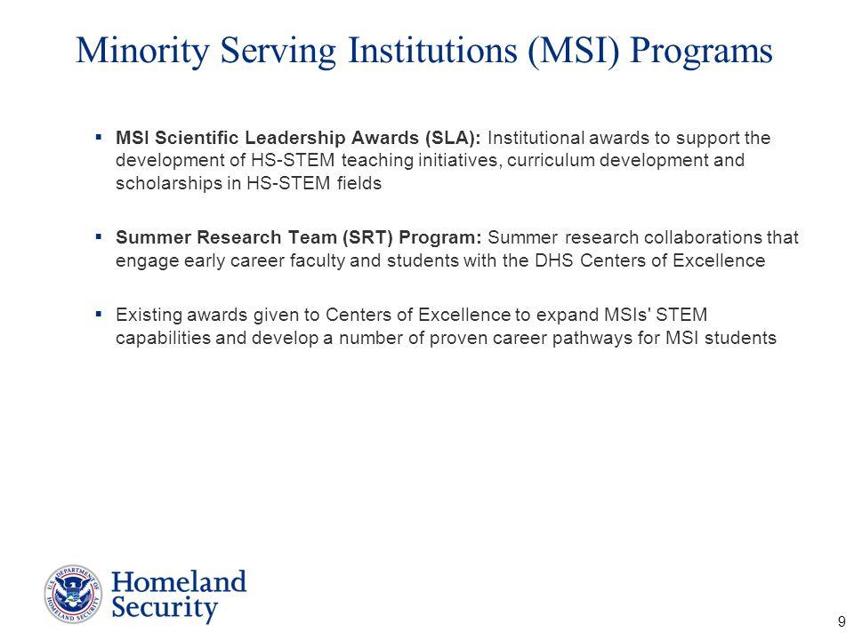 Minority Serving Institutions (MSI) Programs