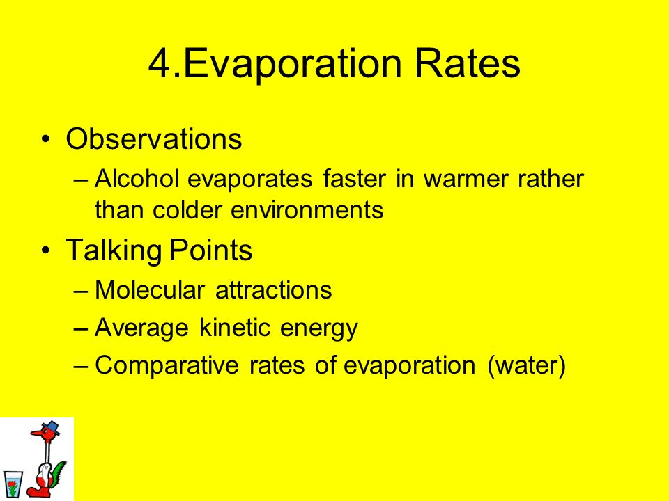 4.Evaporation Rates Observations Talking Points