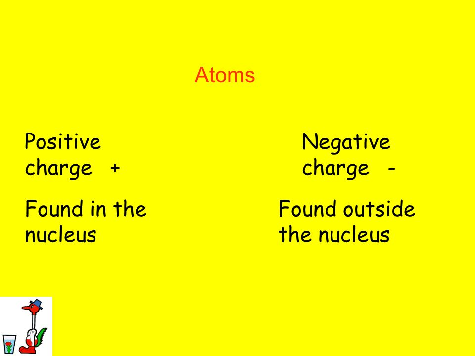 7 Taping the Charge Atoms Protons Electrons Positive charge +