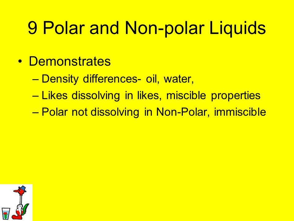 9 Polar and Non-polar Liquids